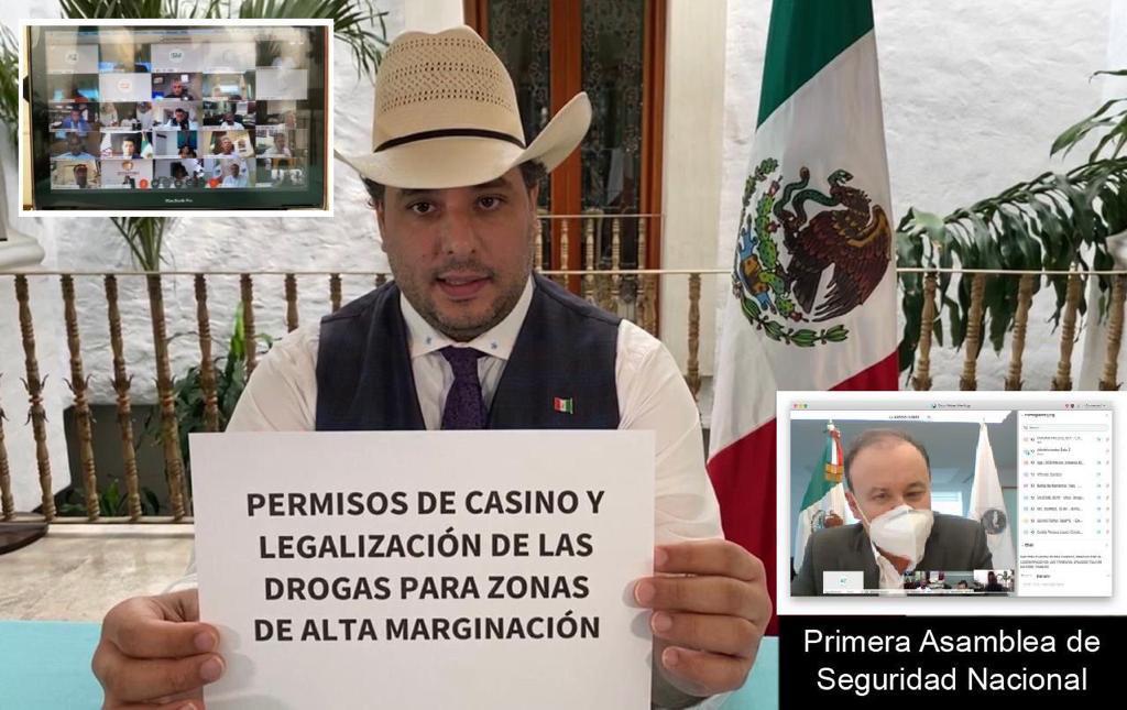 En reunión con Durazo, Adrián Esper propondría legalizar la marihuana y creación del Mando Único para Ciudad Valles